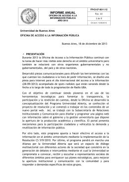 INFORME ANUAL - Universidad de Buenos Aires