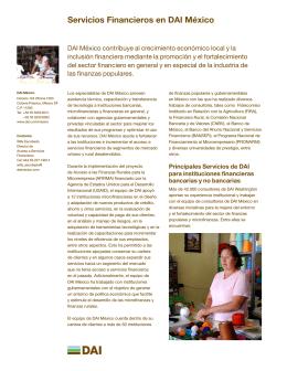 Folleto de Servicios Financieros en DAI México