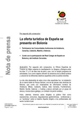 2013 04 30 NP España en Bolonia