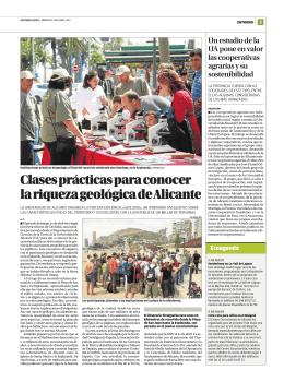 Clases prácticas para conocer la riqueza geológica de Alicante