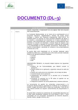 DOCUMENTO (DL–3) - Fundación Biodiversidad