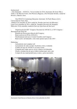 Gira Eukanuba – AVEACA 5 de noviembre de 2014: disertantes Dr