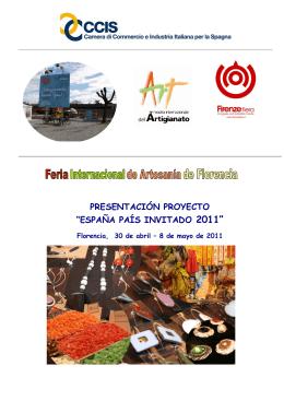 """presentación proyecto """"españa país invitado 2011"""""""