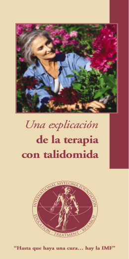 Thal Booklet-Spanish - International Myeloma Foundation