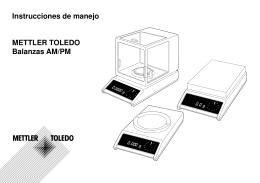 Instrucciones de manejo Balanzas AM/PM