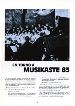 En torno a Musikaste 83, José Luis Ansorena