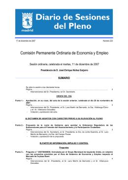 Diario de Sesiones 11/12/2007 (233 Kbytes pdf)