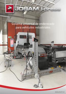 Sistema universal de enderezado para vehículos industriales