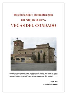 Restauración y automatización del reloj de la torre de Vegas del