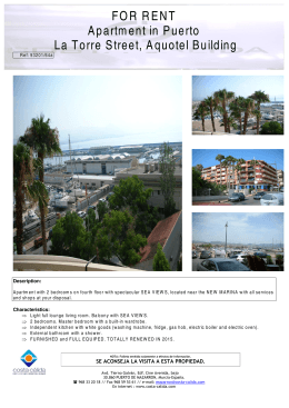 FOR RENT Apartment in Puerto La Torre Street