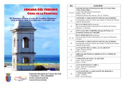 actividades folleto interior - Portal de turismo de Conil de la