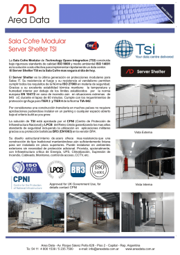 Folleto AD Server Shelter TSI