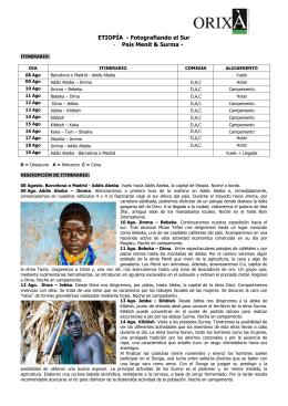 ETIOPÍA: RUTA HISTÓRICA - Ver mapa Viajes a India del Sur
