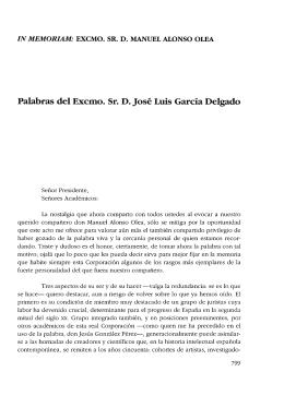 Manuel Alonso Olea - Real Academia de Ciencias Morales y Políticas