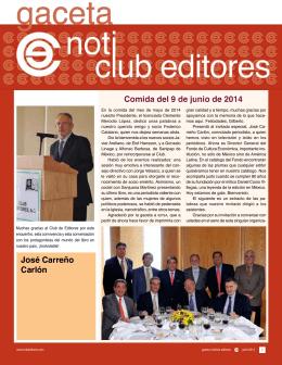 Comida del 9 de junio de 2014 José Carreño Carlón