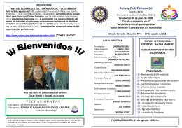 Boletin 7 de Agosto - Rotary PehuenCo – Distrito 4930