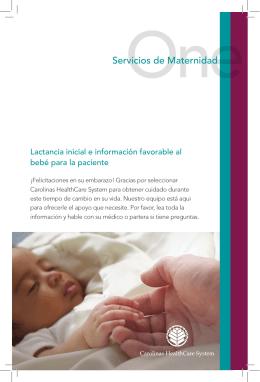 Servicios de Maternidad - Carolinas HealthCare System