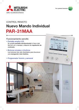 Control Deluxe PAR-31 Mitsubishi Electric Aire Acondicionado