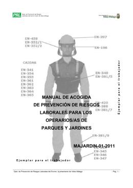 Manual de acogida para trabajos en Parques y