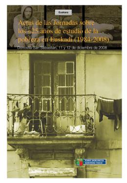 25 años de estudio de la pobreza en Euskadi (1984