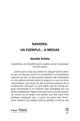 Navarra. Un ejemplo... a medias