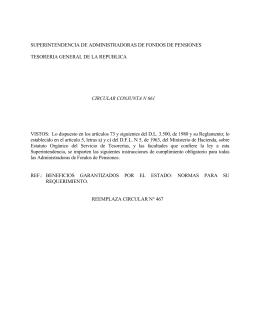 Circular N° 661 - Superintendencia de Pensiones