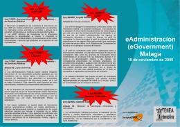 eAdministración (eGovernment) Malaga