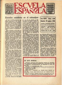 Escuela española - Año XXVI, núm. 1468, 23 de septiembre de 1966