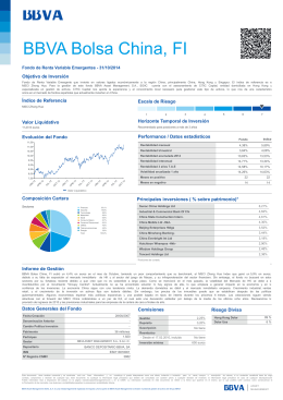 BBVA Bolsa China, FI - BBVA Asset Management