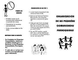 organización de las pequeñas comunidades parroquiales
