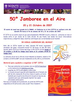 50º Jamboree en el Aire 20 y 21 Octubre de 2007