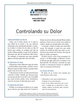 Controlando su Dolor - ARC-Arthritis & Rheumatology Clinic!