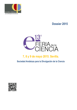 Dossier 2015 7, 8 y 9 de mayo 2015. Sevilla.