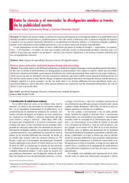 Entre la ciencia y el mercado: la divulgación médica a