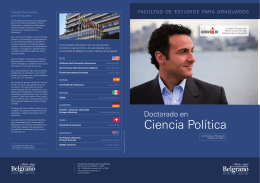 Ciencia Política - Universidad de Belgrano