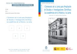 Centenario SECC - Folleto.pmd - Real Academia de la Historia