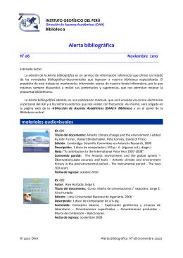 alerta 8 - Instituto Geofísico del Perú