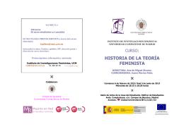 Historia de la Teoría Feminista - Universidad Complutense de Madrid