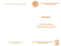 Teoría del consumo - Centro de Estudios Monetarios