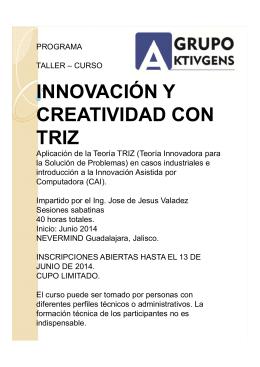 INNOVACIÓN Y CREATIVIDAD CON TRIZ