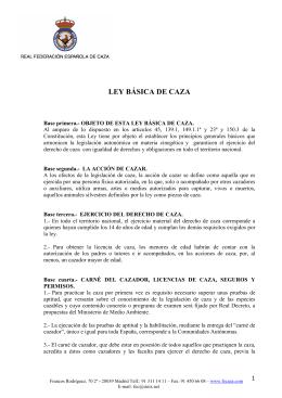 LEY BÁSICA DE CAZA