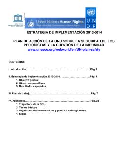 Estrategia de implementación del plan para 2013-2014