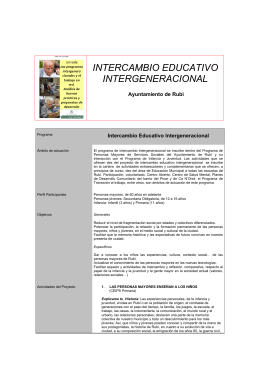 INTERCAMBIO EDUCATIVO INTERGENERACIONAL