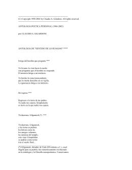 Gilardoni Claudio A. - Antologia poetica personal