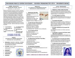 programa para el centro diocesano — segundo trimestre 2013-2014