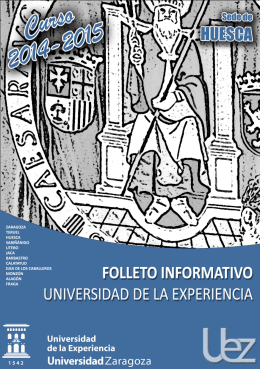 descargar folleto - Universidad de Zaragoza