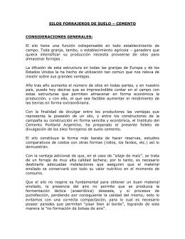 SILOS FORRAJEROS DE SUELO – CEMENTO