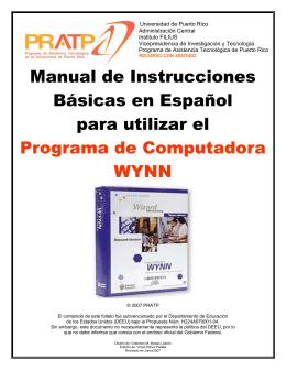 Manual de Instrucciones Básicas en Español para utilizar el