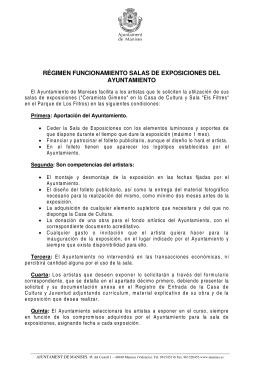 reglamento exposiciones