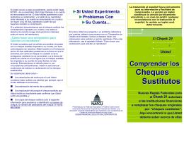 Información sobre Check 21 - IDB